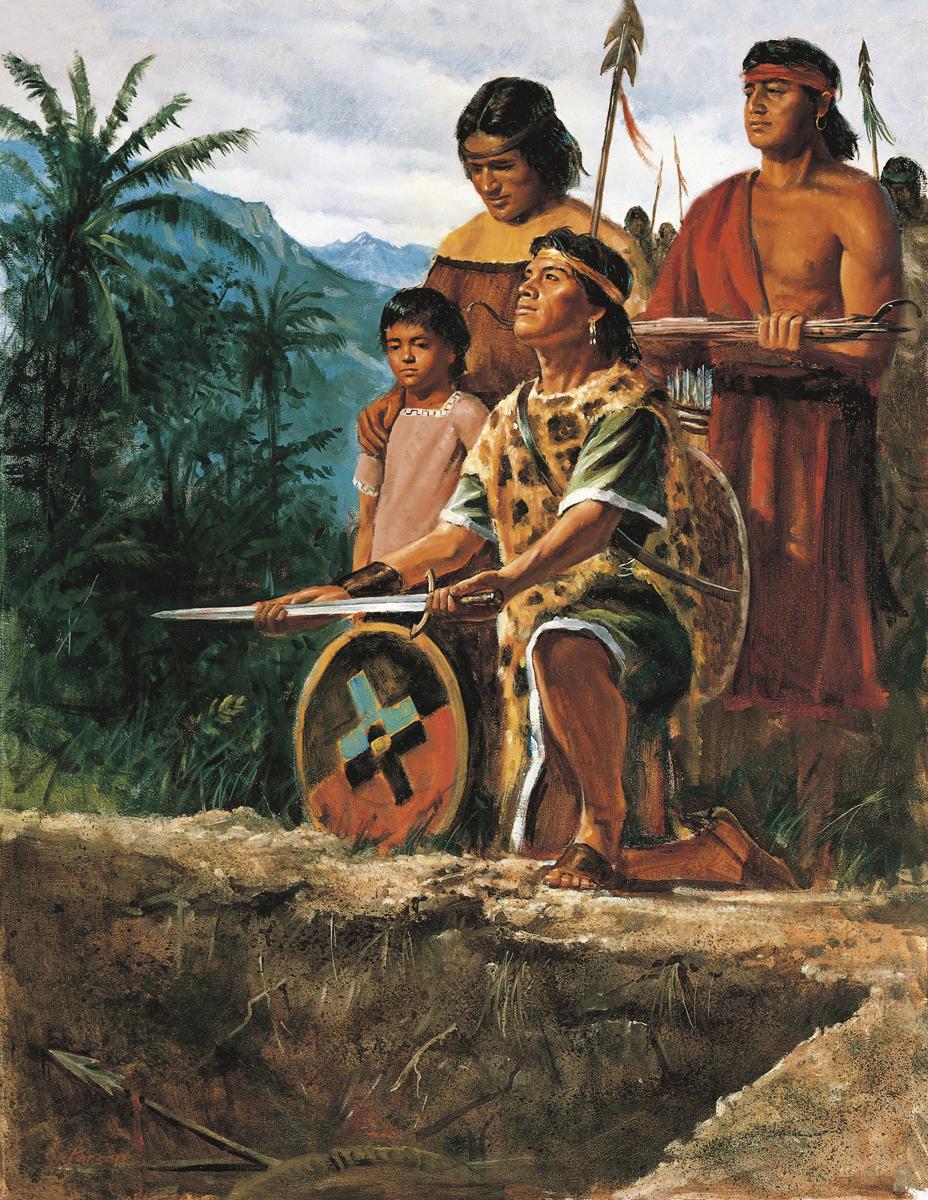 Alma 25: Lamanitas entierran sus armas de Guerra