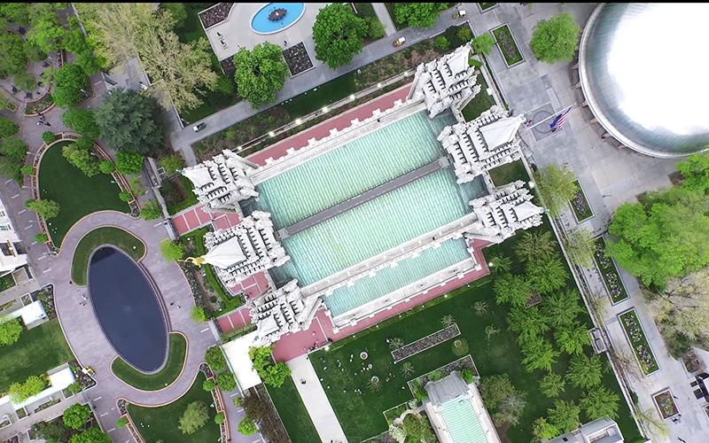 Impresionantes tomas de drones de los 16 Templos de Utah
