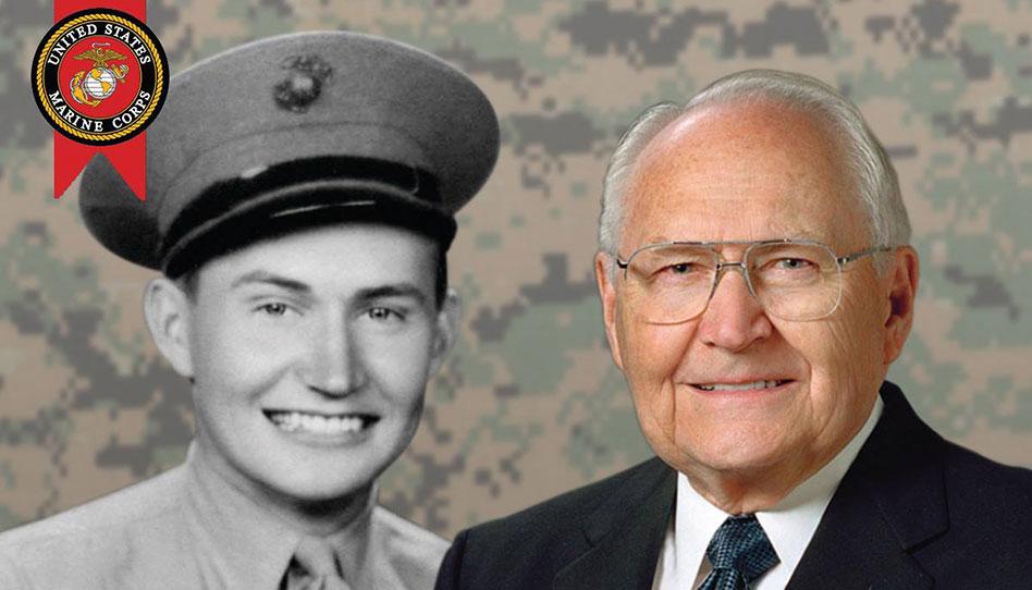 Veteranos de guerra muestran respetos al Élder L. Tom Perry