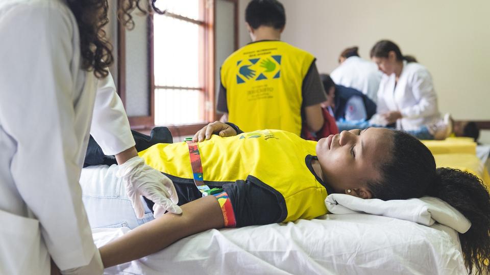 Mormones participan exitosamente en donación de sangre en Perú
