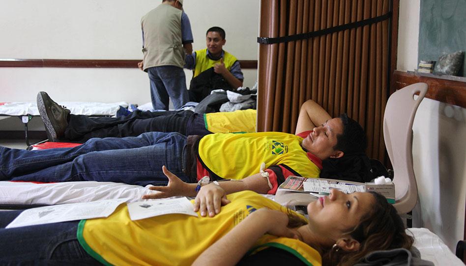 Mormones se preparan para donar sangre y salvar vidas en Perú