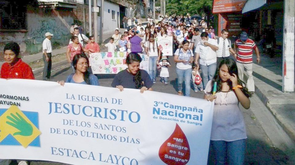 Donación de sangre en El Salvador: Mormones llevan a cabo jornada