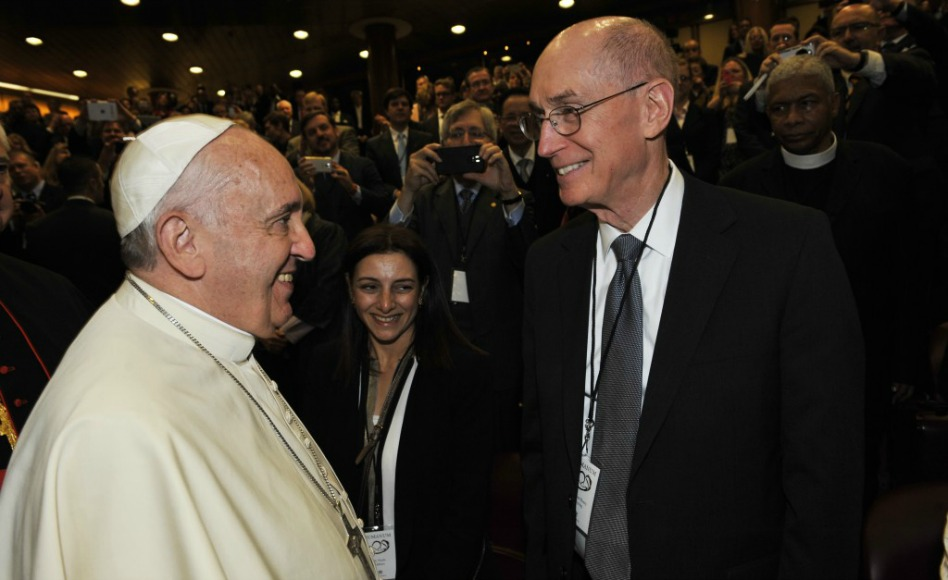 Papa Francisco y Russel M. Nelson