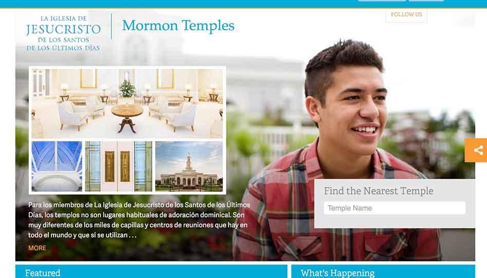 Iglesia lanza página web sobre los Templos Mormones