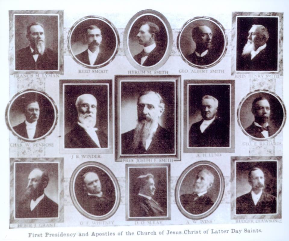 Cuando fue la última vez que se escogieron tres apóstoles mormones