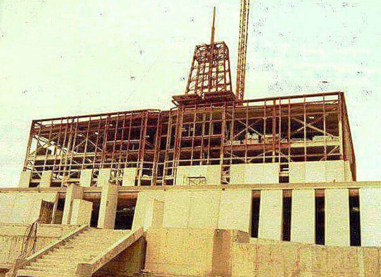 Fotos inéditas de la construcción del templo de México DF hace 36 años