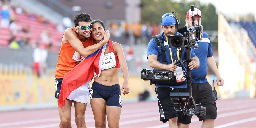 Una deportista ciega que puede ver la meta