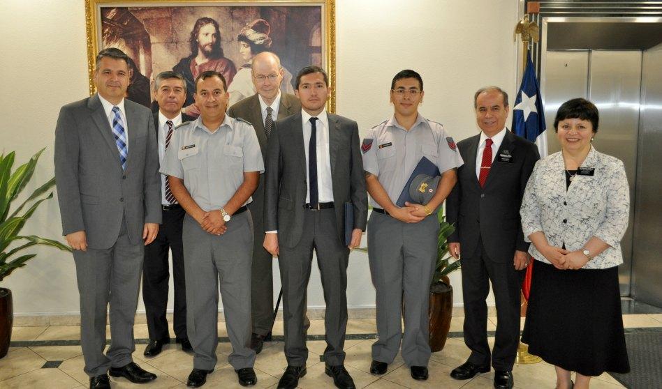 Autoridades del ejercito chileno visitan el CCM de Santiago