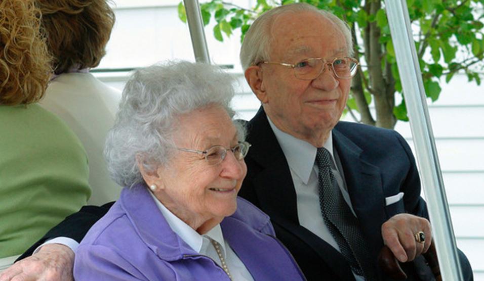 Gordon B Hinckley y Marjorie Pay Hinkckley