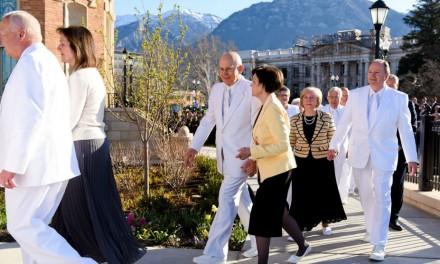 Elder Oaks dedica el templo N°150 en el mundo, en Provo, Utah
