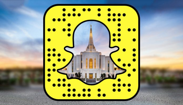 Nueva cuenta en Snapchat sobre templos mormones