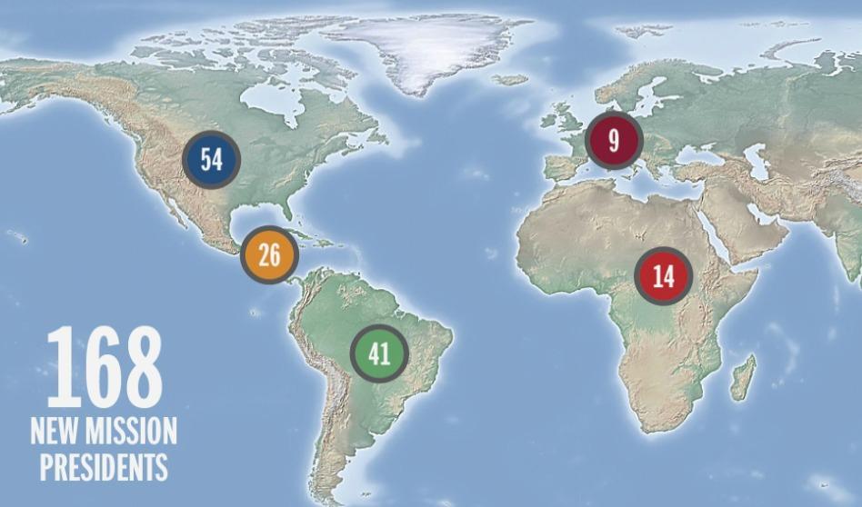 Lista completa de los nuevos Presidentes de Misión en Latinoamérica
