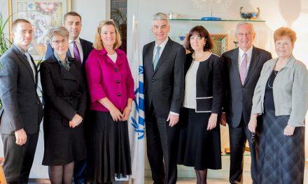 Obispo Presidente se reúne con UNICEF en Europa