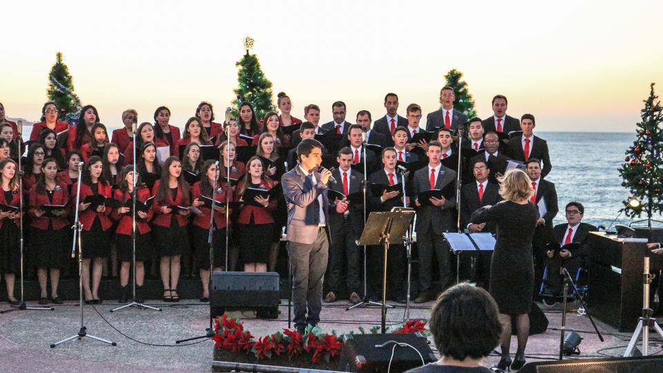 Mormones chilenos y su impresionante concierto navideño