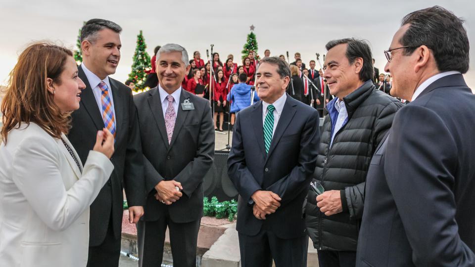 autoridades chilenas en el concierto