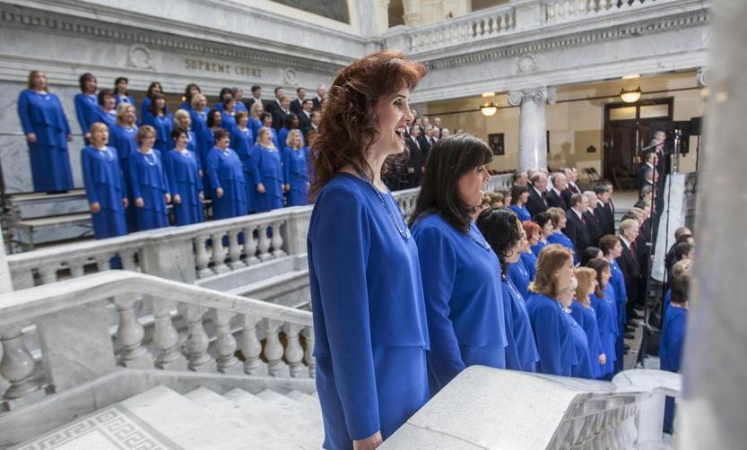 Coro del tabernaculo mormon donald trump