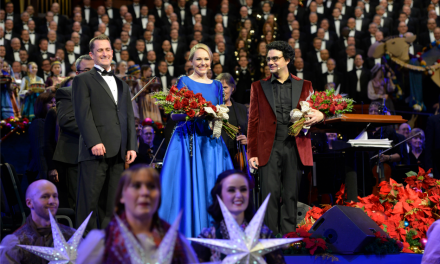 Artista mexicano canta en el concierto navideño del Coro del Tabernáculo Mormón