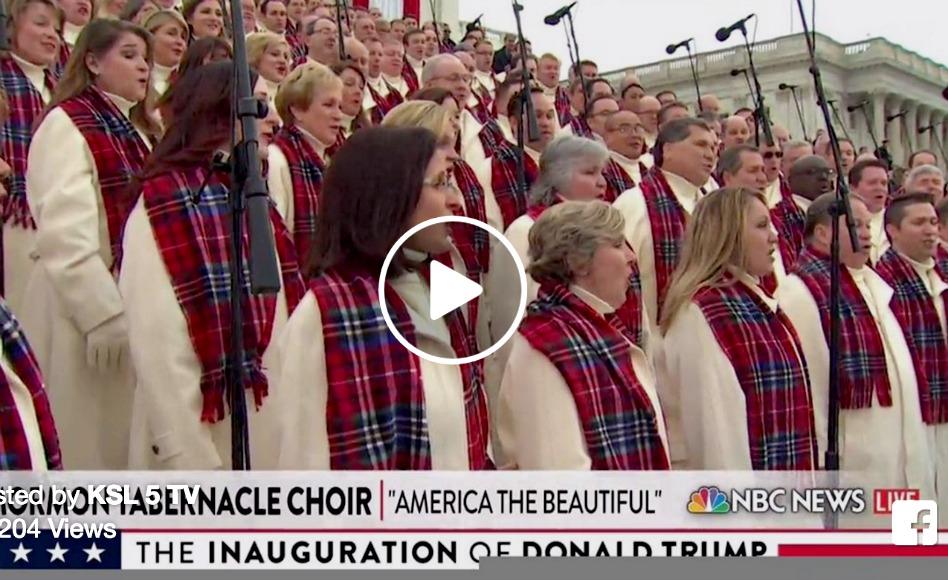 VÍDEO: La presentación del Coro del Tabernáculo Mormón en la Inauguración Presidencial de EE.UU.