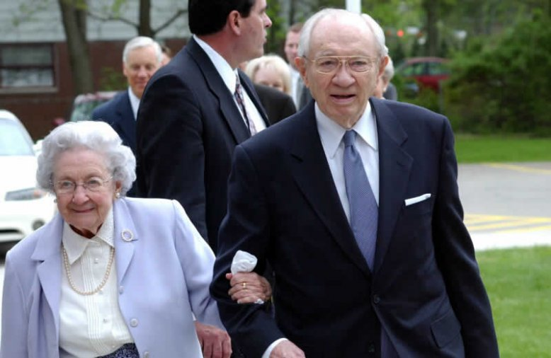 Presidente Hinckley y su esposa Marjorie