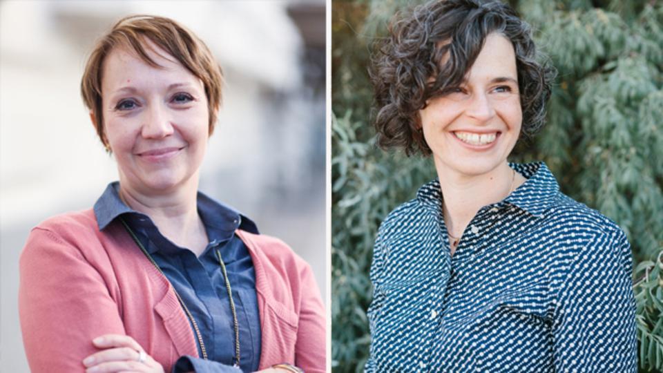 """""""En el púlpito"""", escrito por los historiadores de la Iglesia Jennifer Reeder (izquierda) y Kate Holbrook (a la derecha), muestra más de 50 discursos pronunciados por mujeres mormonas desde la fundación de la Iglesia."""