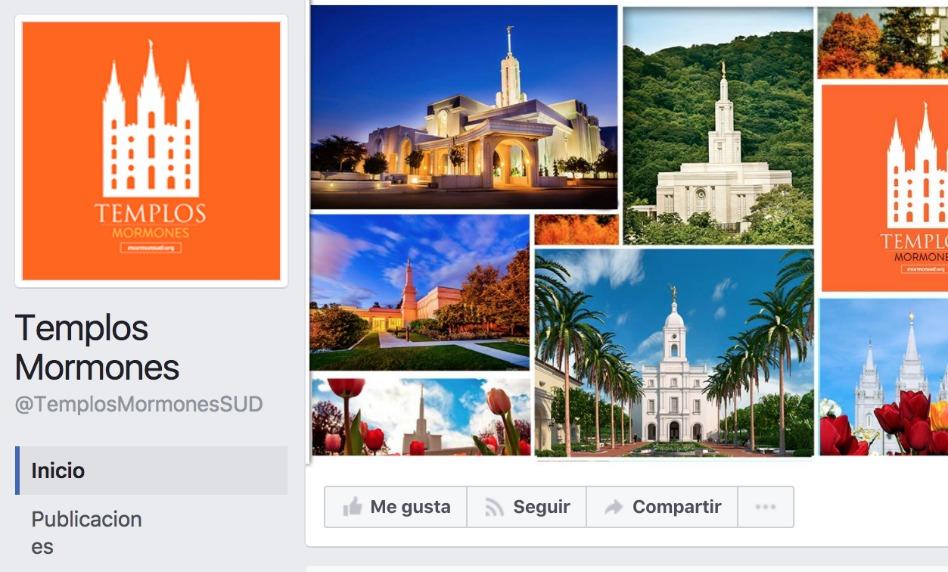 Nueva página sobre Templos Mormones en Facebook