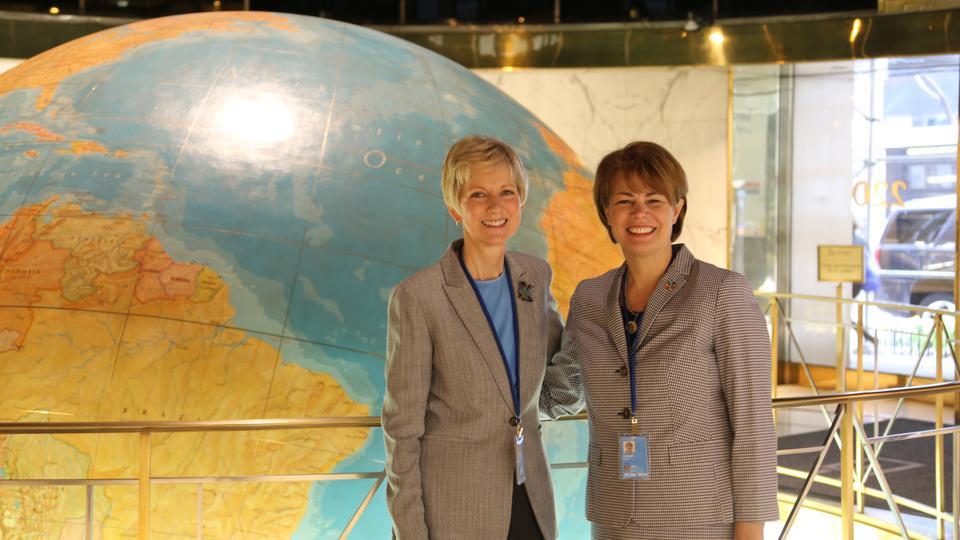 Presidenta General de la Sociedad de Socorro es oradora en las Naciones Unidas