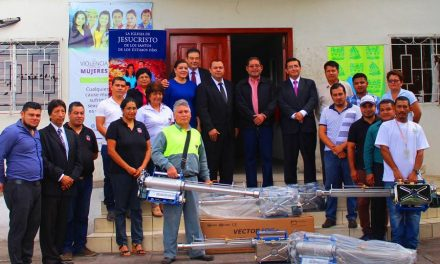 Mormones donan bombas termonebulizadoras en el Salvador