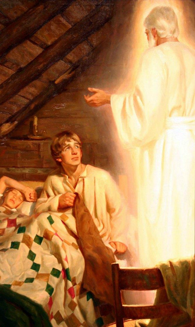 El ángel Moroni y José Smith
