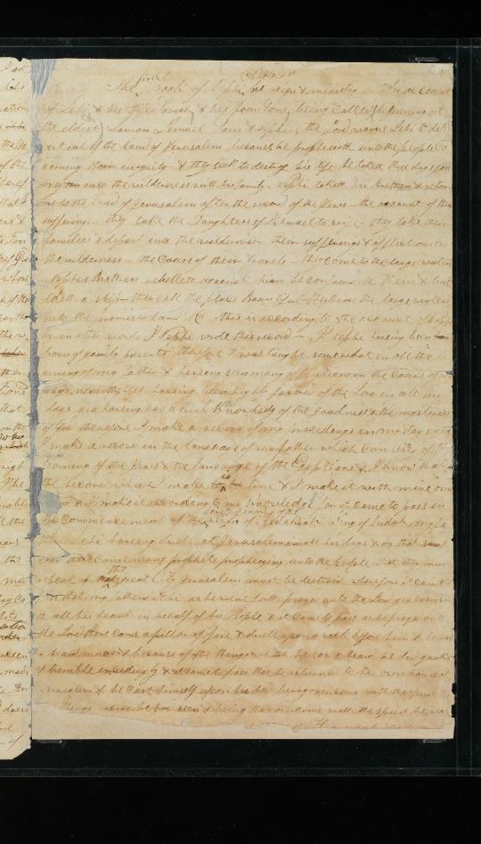 manuscrito de la imprenta original del Libro de Mormón