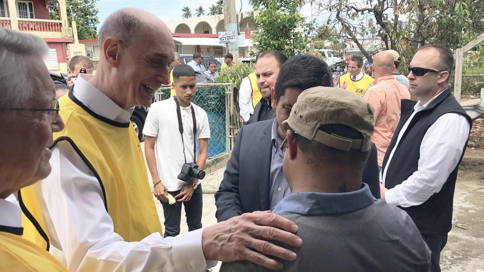 Presidente Eyring ofrece apoyo en el Caribe después del huracán Irma