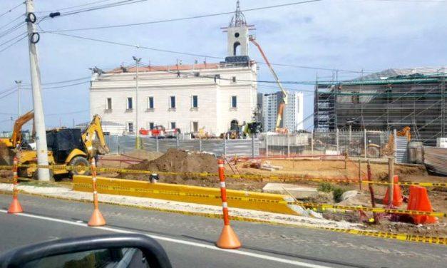 El progreso de construcción del Templo de Barranquilla, Colombia