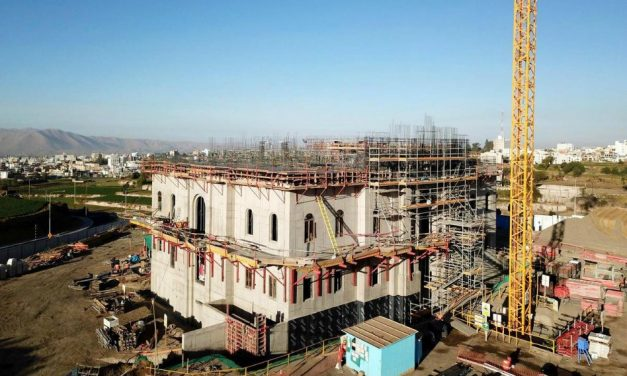 Así va la construcción del Templo de Arequipa, Perú