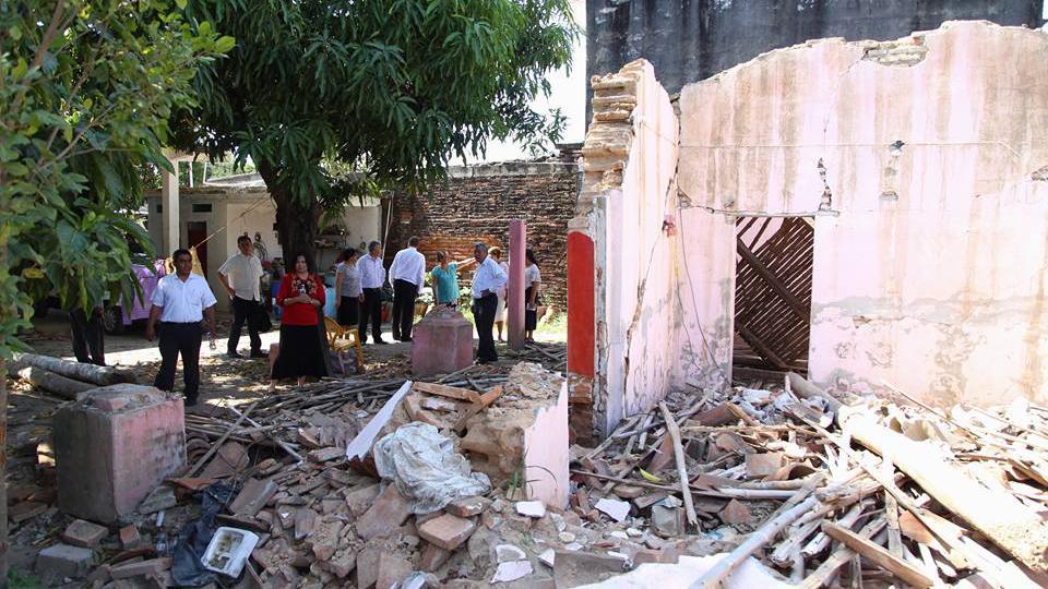 damnificados en Oaxaca, México