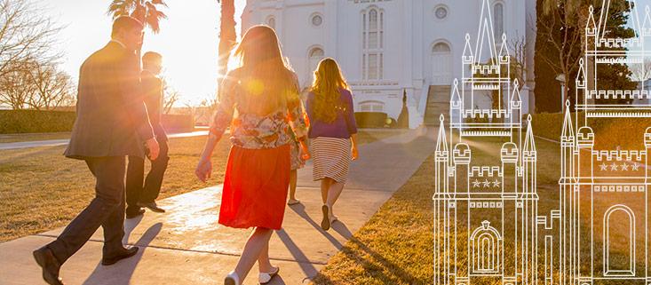 Hombres y Mujeres Jóvenes en el Templo
