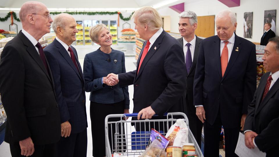 mormones al presidente Trump
