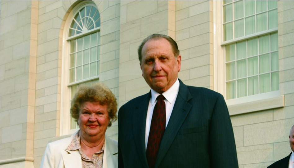 Thomas S. Monson y su esposa Frances