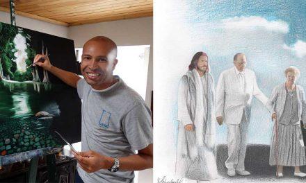 El artista colombiano detrás de la pintura que se volvió viral del Pdte. Monson