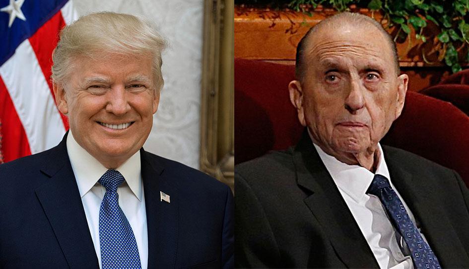 Donald trump expresa condolencias por muerte de thomas S. Monson