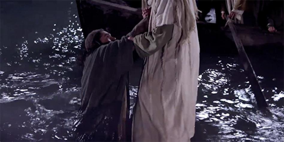 Jesús Salva a Pedro
