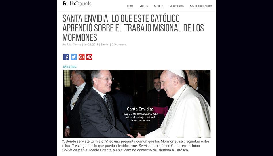 Lo que un escritor Católico le preguntaría al Papa Francisco sobre el trabajo misionero Mormón