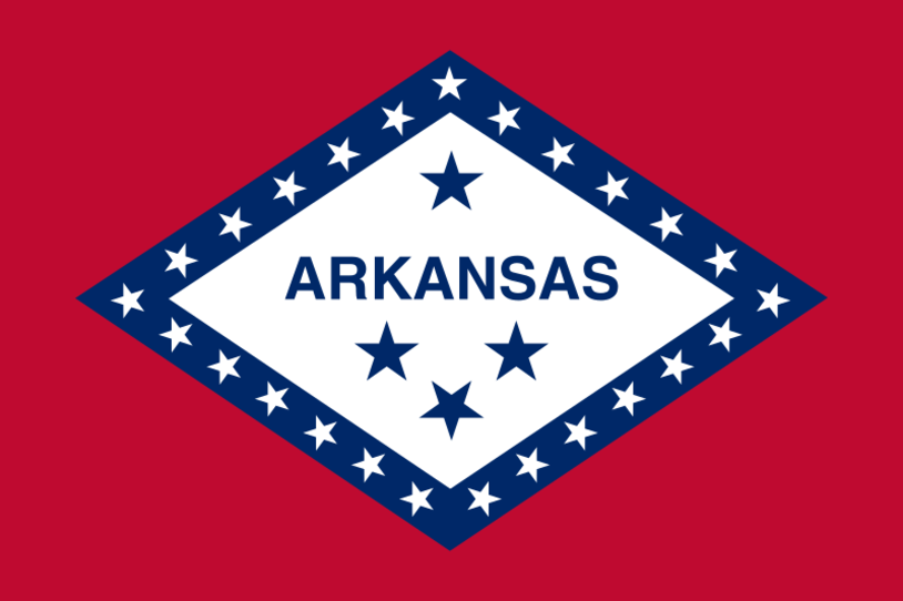 bandera del estado de arkansas
