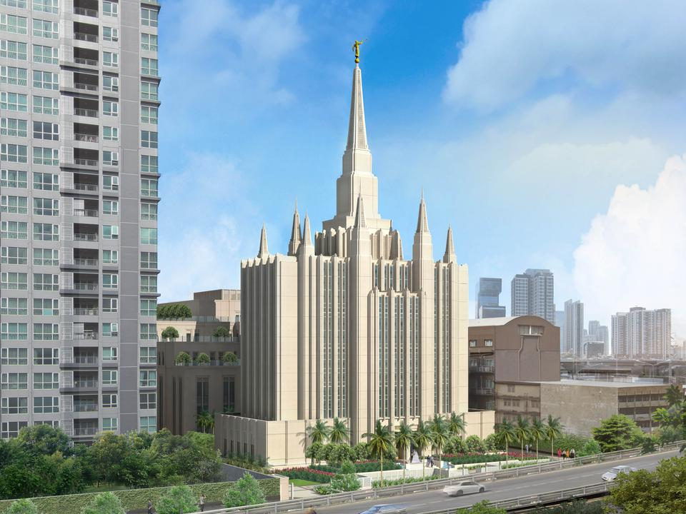 el templo mormón en Tailandia