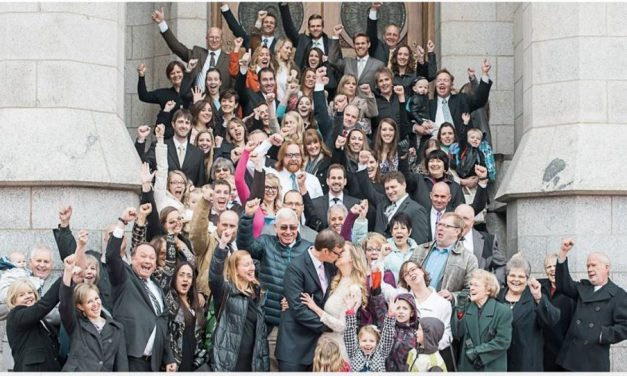 Una novia mormona planificó su boda en cinco días