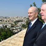 presidente Nelson y élder Holland en Jerusalén