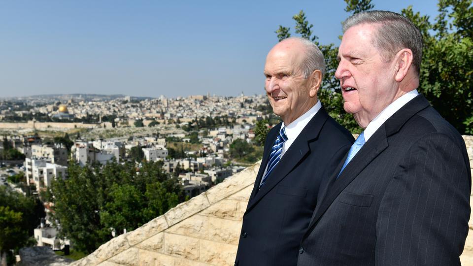 Los sentimientos del presidente Nelson y élder Holland al estar en Jerusalén