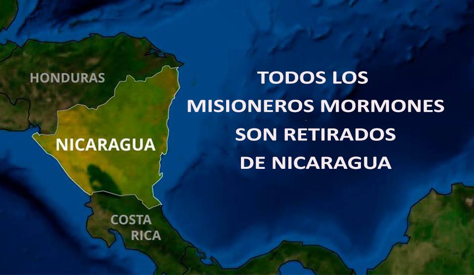 Todos los misioneros mormones son retirados de Nicaragua