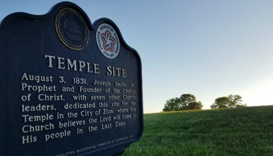 La iglesia de Cristo (terreno del templo) y el templo del milenio en Misuri