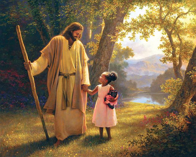Jesus con niña
