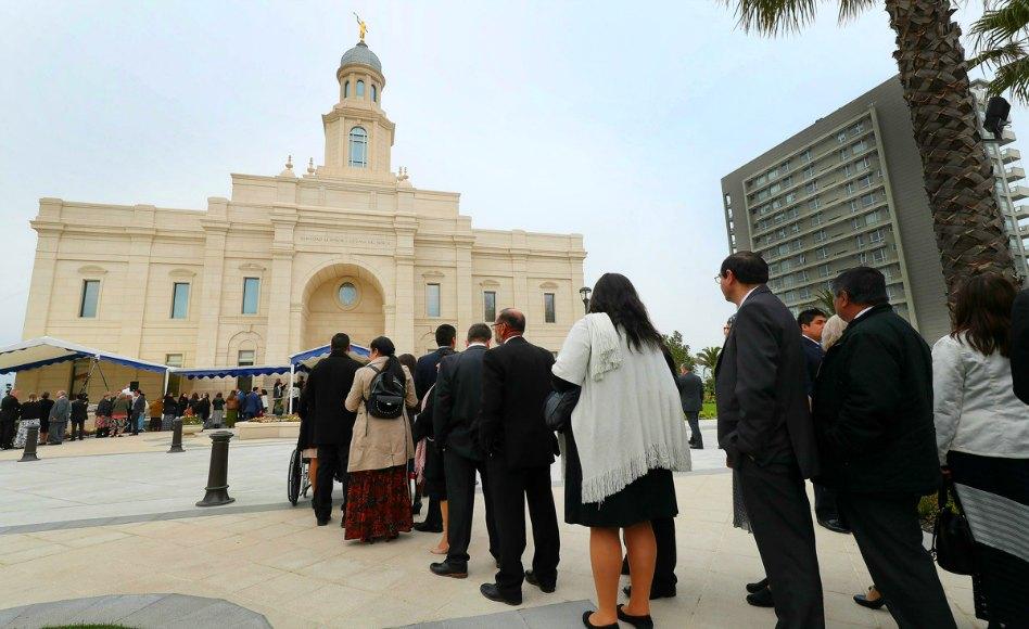 dedicación del templo de Chile