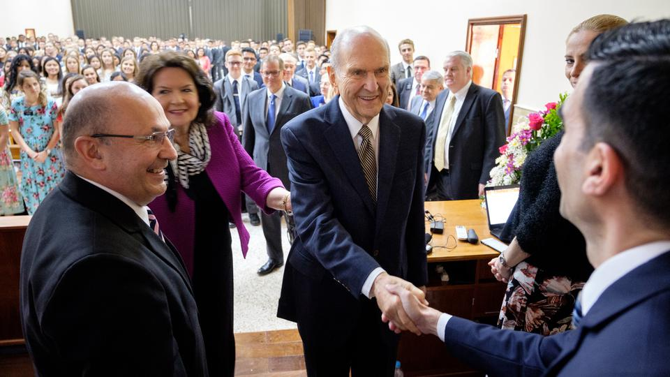 Presidente Nelson en Paraguay